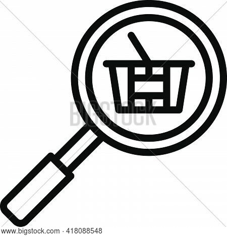 Basket Checking Icon, Supermarket And Shopping Mall Related Vector Illustration