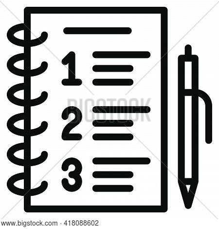 Shopping List Icon, Supermarket And Shopping Mall Related Vector Illustration