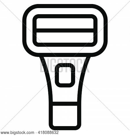 Barcode Scanner Icon, Supermarket And Shopping Mall Related Vector Illustration