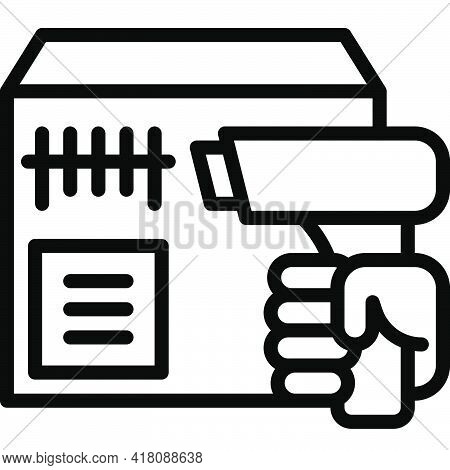 Scanning The Barcode Icon, Supermarket And Shopping Mall Related Vector Illustration