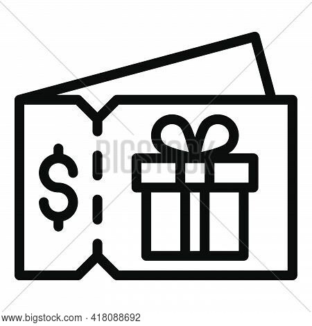 Coupon Icon, Supermarket And Shopping Mall Related Vector Illustration