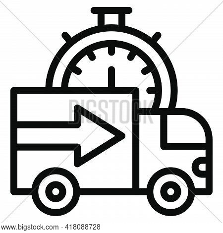 Delivery Truck Icon, Supermarket And Shopping Mall Related Vector Illustration