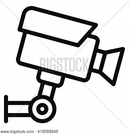 Cctv Icon, Supermarket And Shopping Mall Related Vector Illustration