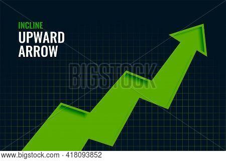 Business Incline Growth Upward Arrow Trend Background Design