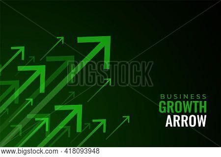 Upward Green Arrows Of Business Sale Growth