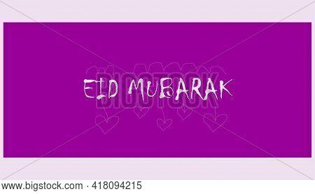Eid Mubarak.islamic Festival Media Social Banner. Social Media Banner Post Design With English Eid M