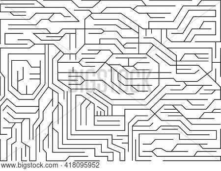 Printed Circuit Board. Mechanically Supports And Electrically Connects On White Background. Technolo