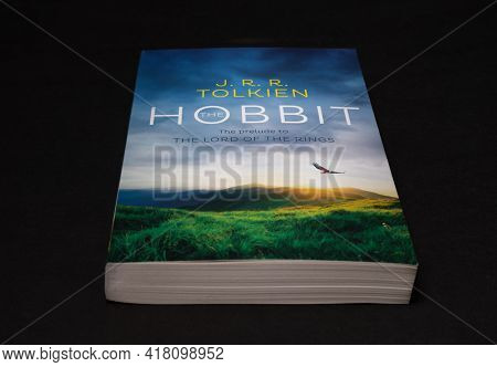 Galle, Sri Lanka - 04 07 2021:the Hobbit By J R R Tolkien, World Famous Lord Of The Rings Prelude No
