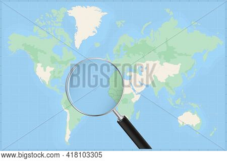 Map Of The World With A Magnifying Glass On A Map Of Cape Verde Detailed Map Of Cape Verde And Neigh
