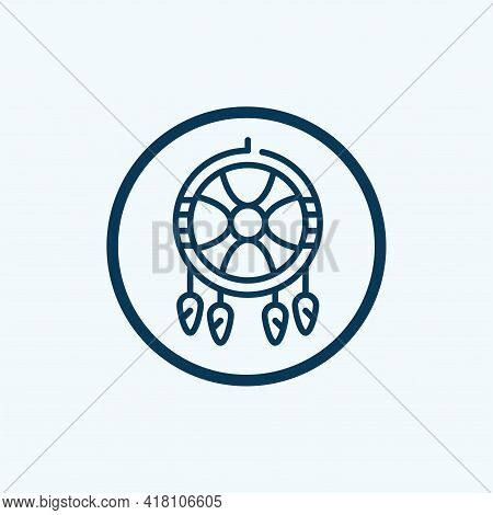 Dreamcatcher Icon Isolated On White Background From Reggae Collection. Dreamcatcher Icon Thin Line O