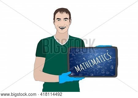 Math Theory And Mathematical Formula Equation And Model Or Graph Doodle Handwriting Icon, School Edu