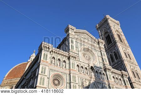 Giotto S Bell Tower Of The Duomo Of Florence In The Tuscany Region