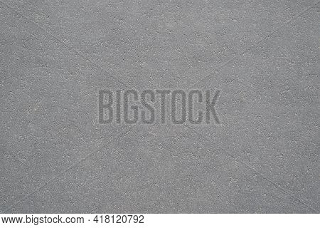 Textured Background Of Dry, Gray Asphalt, Outside. Sidewalk Top View