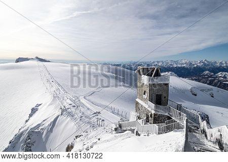 Lift On The Slope On Klein Matterhorn