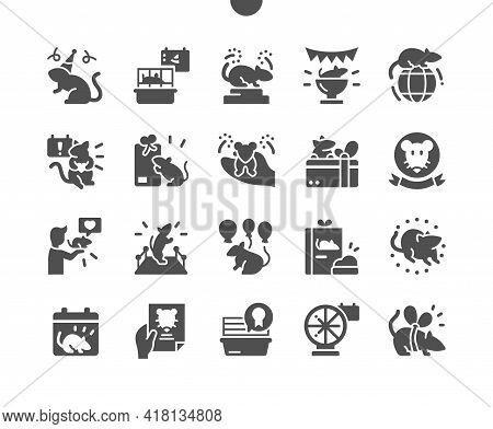 World Rat Day 4 April. Rat Show. Calendar. Fourth Of April. Holiday. Gift For The Best Rat. Vector S