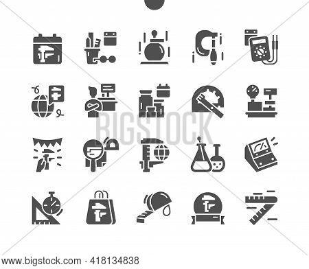 World Metrology Day 20 May. Scientist, Multimeter And Micrometer. Calendar. Twentieth Of April. Holi