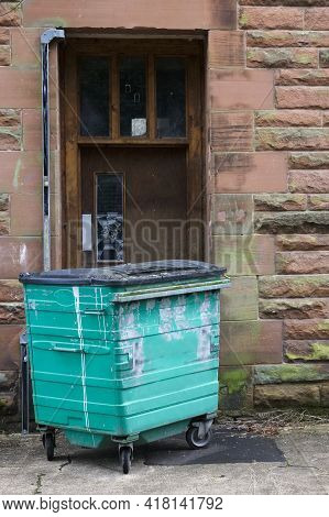 Fly Tipping Of Waste And Rubbish Black Bin Bags In Residential Area