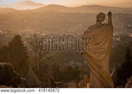 Sanctuary Of Bom Jesus Do Monte (also Known As Sanctuary Of Bom Jesus De Braga) Is Located In Tenoes