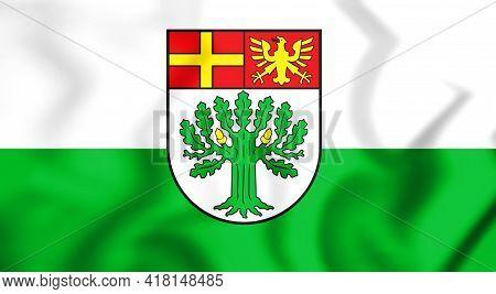 3d Flag Of Schloss Holte-stukenbrock (north Rhine-westphalia), Germany. 3d Illustration.