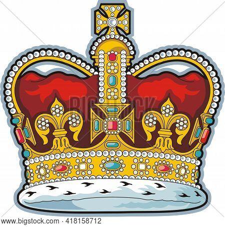 British Crown Of Saint Edward. Vector Illustration