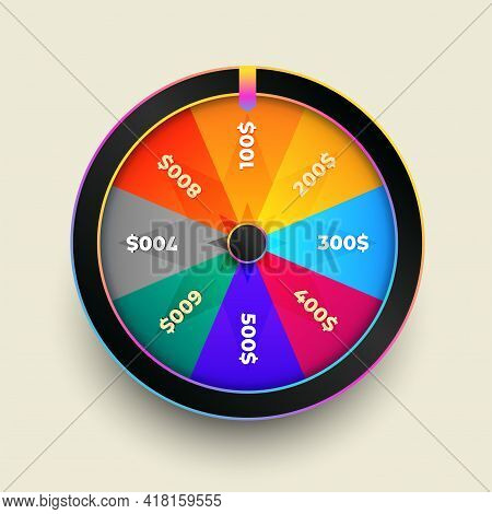 Colorful Wheel Of Fortune Luck Design Vector Illustration