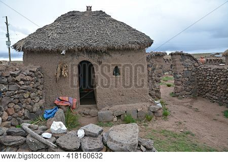 Traditional Peruvian House In The Sacred Valley, Peru.\ntraditional Peruvian House In The Sacred Val