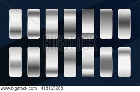 Silver Chrome Platinum Or Aluminium Metallic Gradients Set