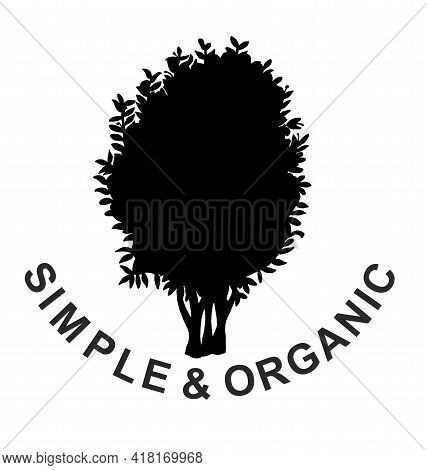 Tree Icon Concept Of A Stylized Tree With Leaves, Lends Itself To Being Used With Text. Tree Logo Ic