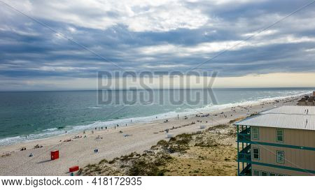 The Beach In Gulf Shores, Alabama At Spring Break 2021