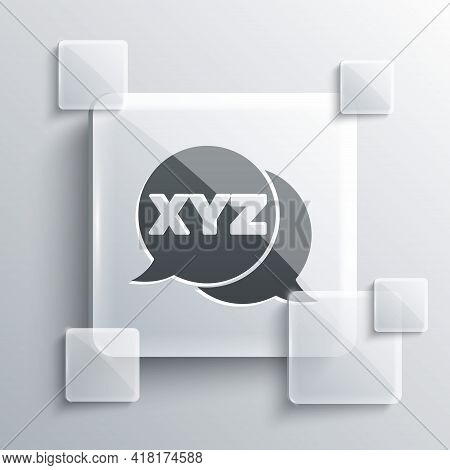 Grey Xyz Coordinate System Icon Isolated On Grey Background. Xyz Axis For Graph Statistics Display.