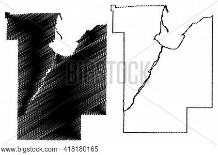 Brown County, State Of Wisconsin (u.s. County, United States Of America, Us) Map Vector Illustration
