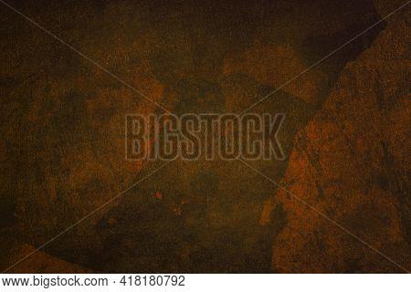Grunge, Dark, Orange Cracked Texture Vignette Backgrounds Texture