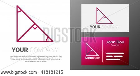Logotype Line Angle Bisector Of A Triangle Icon Isolated On White Background. Logo Design Template E