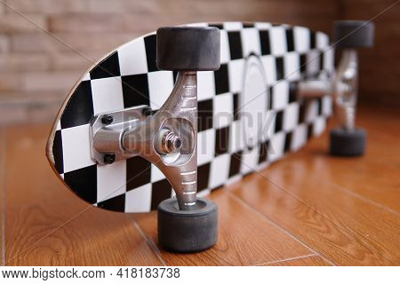 Surfskate Board Detail As For Extreme Sport Background.