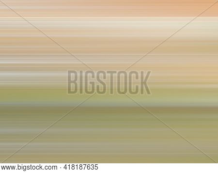 Light Brown, Beige, Green, White Speed Lines. Multicolored Smooth Gradient. Ground And Grass Concept