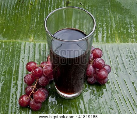 fresh healthy refreshing red grape juice