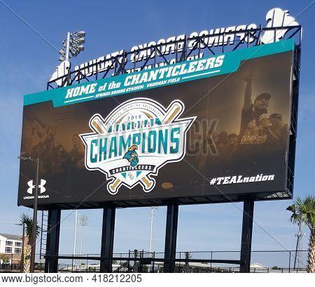 Conway, South Carolina, September 8th, 2016, Coastal Carolina University Chanticleers Baseball Sprin