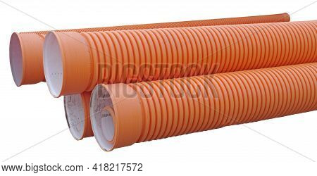 Plastic Pipes For Water Supply Or Sewerage Prepared For Installation Or Repair Of The Water Supply S