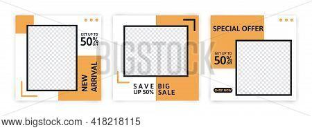 Set Of Editable Minimal Banner For Social Media Template. Suitable For Social Media Post And Web Int