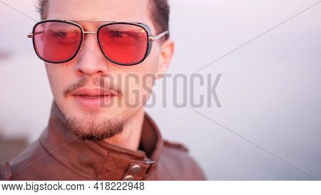 Macho Attractive Appearance Handsome Bearded Troubled About Something Portrait