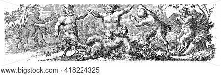 Dancing Young Satyrs, Jan van Vianen, 1701