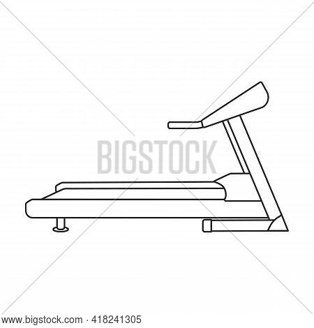 Treadmill Vector Outline Icon. Vector Illustration Gum Machine On White Background. Isolated Outline