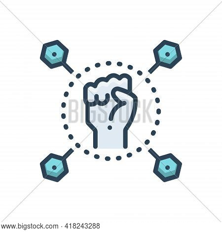 Color Illustration Icon For Capability Ability Capacitation Competence Mightiness