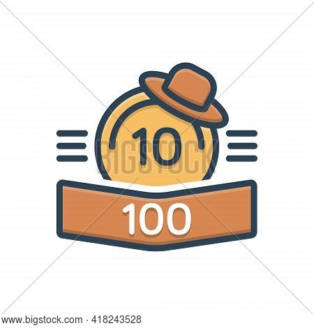 Color Illustration Icon For Points Score Rank Score-board Number