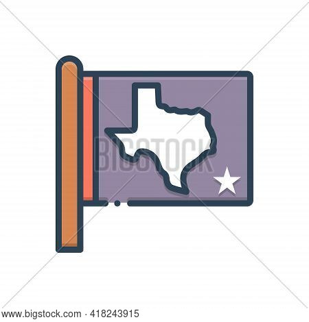 Color Illustration Icon For State Kingdom Dominion Realm Country