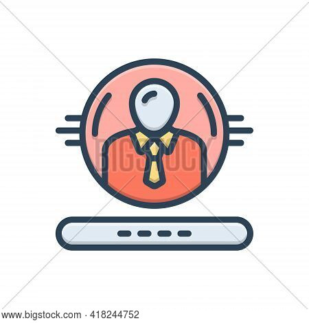 Color Illustration Icon For Administration Regime People Admin