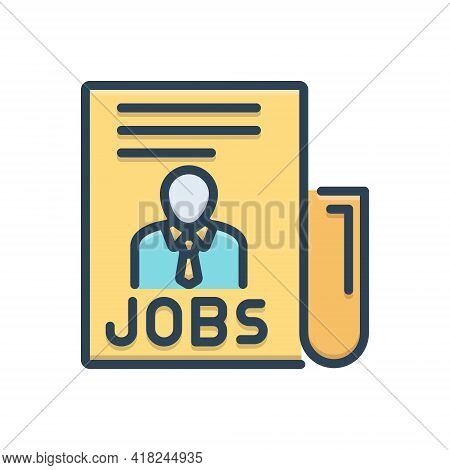 Color Illustration Icon For Jobs Task  Office Careers Work People Vacancy