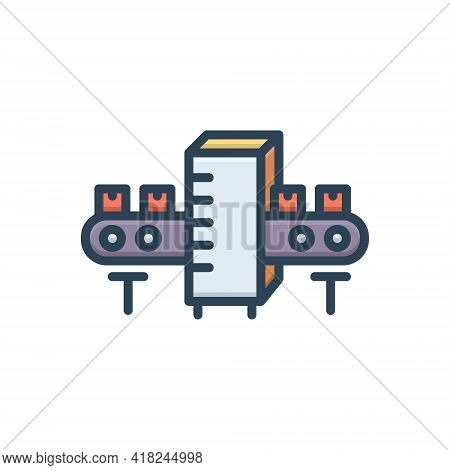 Color Illustration Icon For Manufacturing Manufacture Production Making  Factory