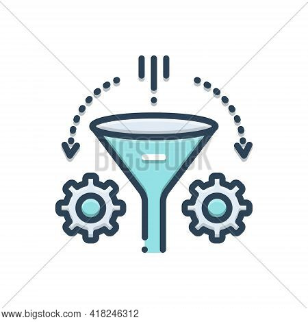 Color Illustration Icon For Refinement Purification Cleaning Purity Accuracy Precision