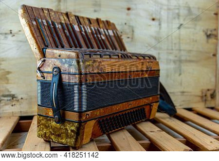 Former 120 Bass Student Accordion For Music School.